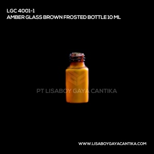 LGC-4001-1-AMBER-GLASS-BROWN-FROSTED-BOTTLE-10-ML